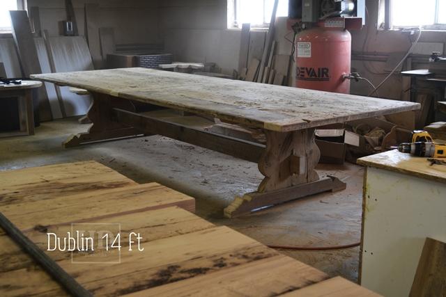 Elegant 14 Ft Trestle Table   Violin Shaped Base