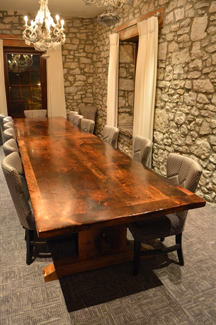 Big Reclaimed Wood Tables And Some Comments On Seating