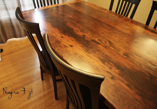 Matte Finish Epoxy : Ft reclaimed wood table