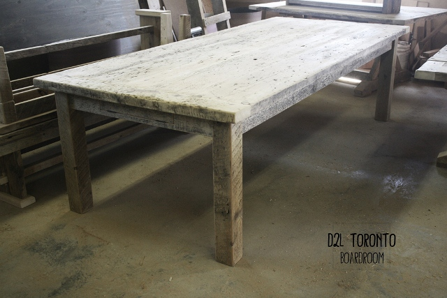 Nice Rustic Mennonite Built Unfinished Harvest Table For D2L Boardroom