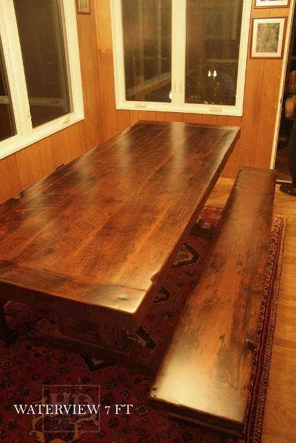 Matte Finish Epoxy : New ″ top option made from old barn joists