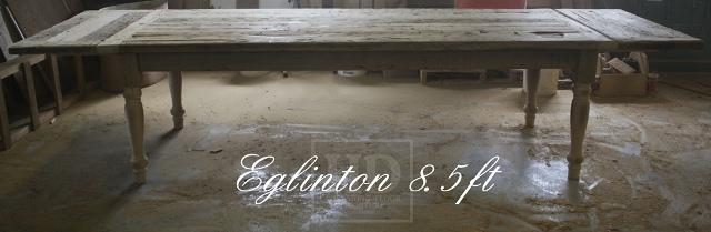 Unfinished Custom Reclaimed Wood Harvest Table Toronto