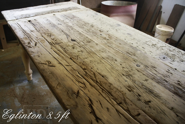 Unfinished Custom Reclaimed Wood Harvest Table Toronto