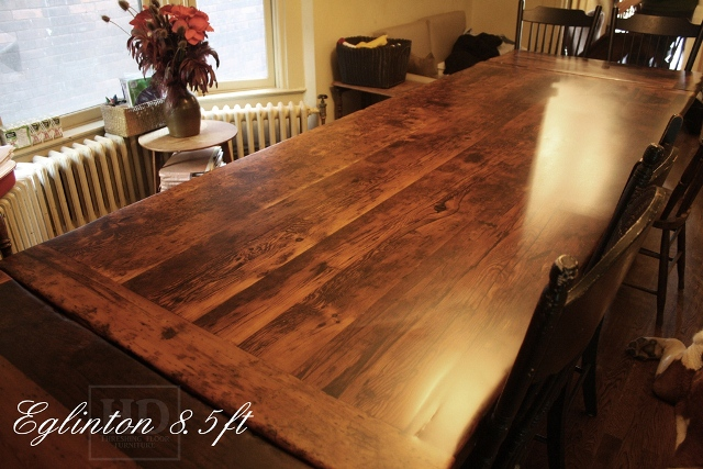 Custom Reclaimed Wood Harvest Table In Toronto Blog