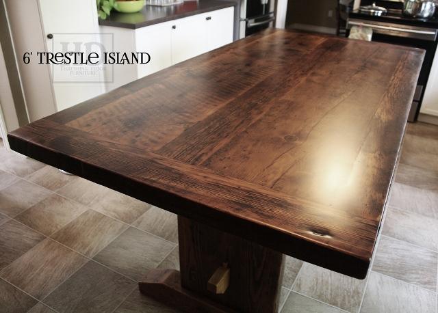 Matte Finish Epoxy : Reclaimed wood island