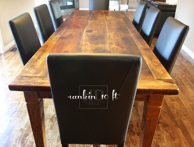 Our Reclaimed Wood Table And Parsons Chairs