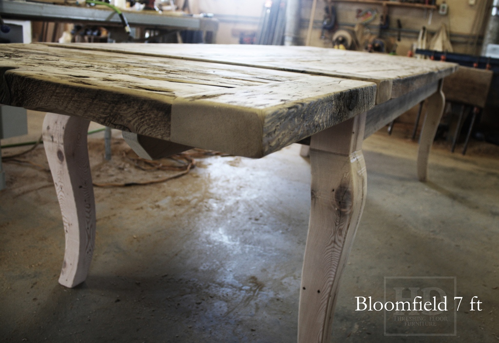 Unfinished Reclaimed Wood Threshing Floor Harvest Tables (this one custom  made for client in Toronto