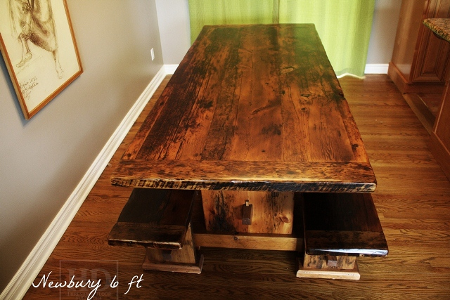 Perfect Custom Reclaimed Wood Boardroom Table In Whitby Ontario