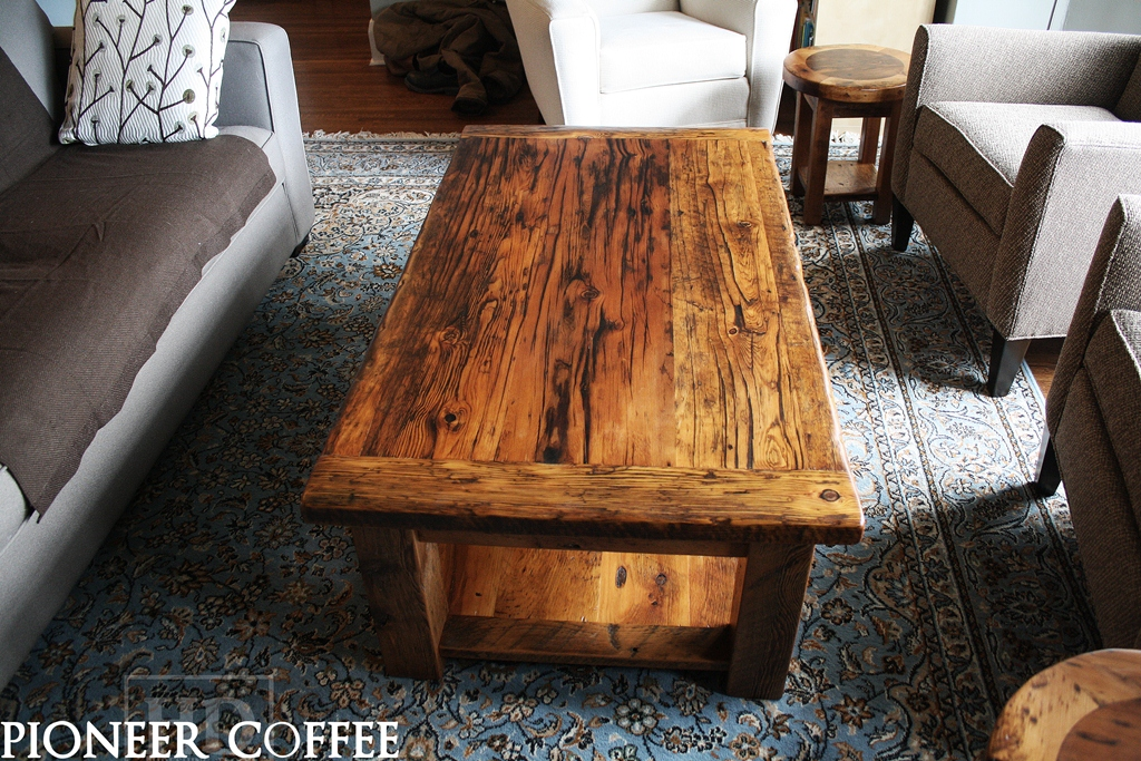 Custom barnwood coffee tables blog Recycled wood coffee table