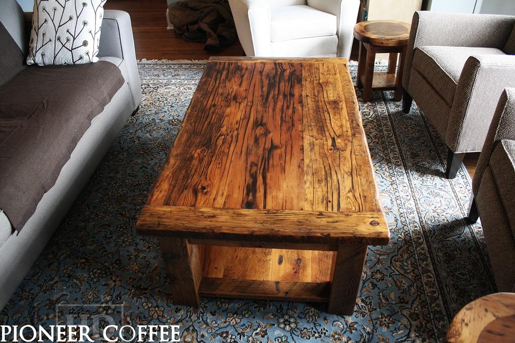 custom barnwood coffee tables
