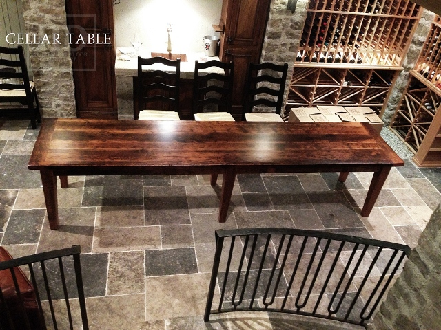 Our Reclaimed Wood Harvest Table Waterloo Wine Cellar