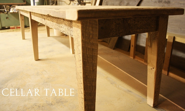 11 1 5 Long Harvest Table 30 5 Wide Tapered Legs