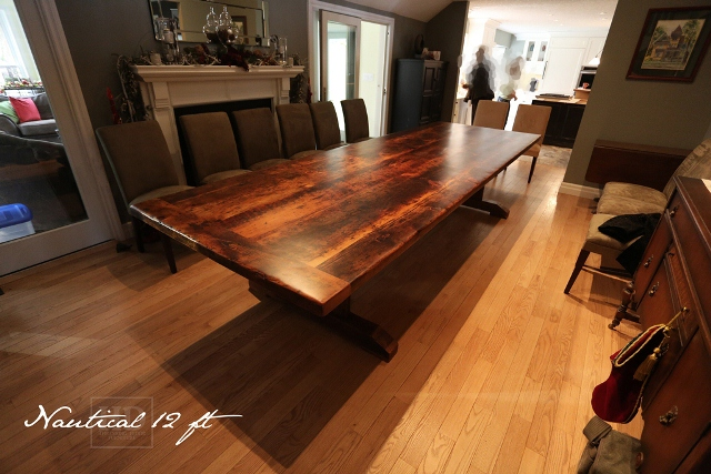 Big Pine Reclaimed Wood Trestle Table Blog