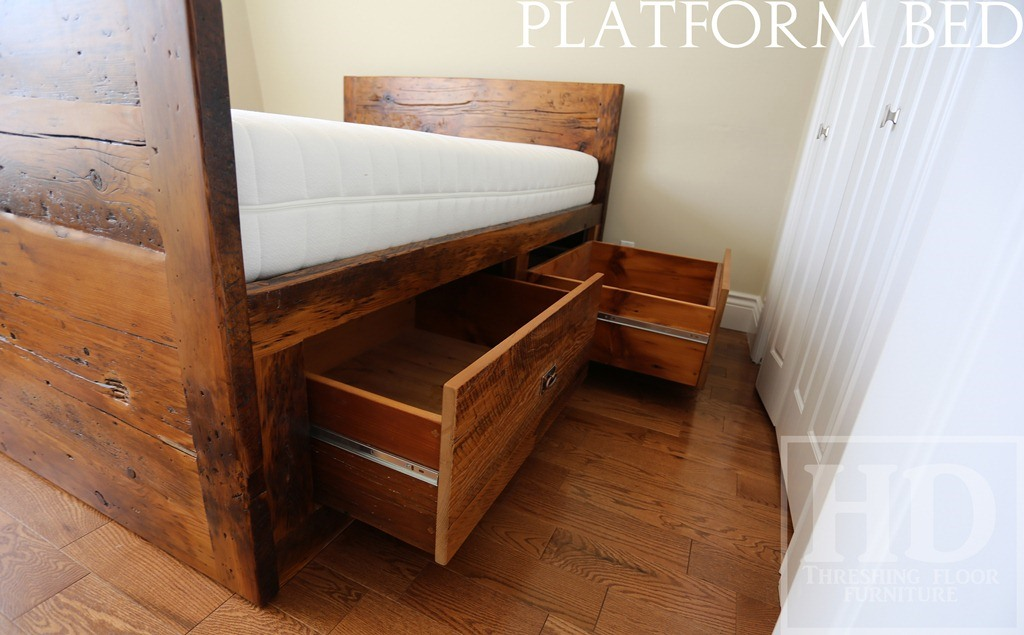 Reclaimed Wood Platform Bed Toronto