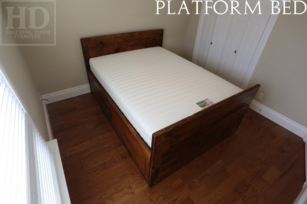 Mennonite Built Reclaimed Wood Platform Bed Toronto