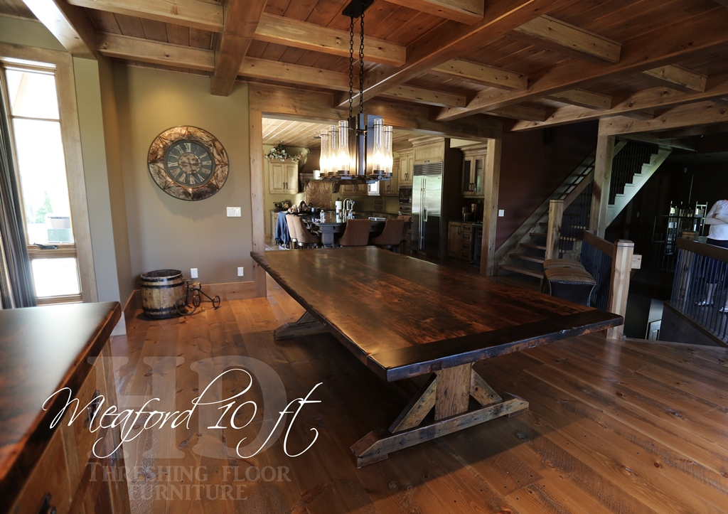 Our Mennonite Built Reclaimed Wood Sawbuck Table Design