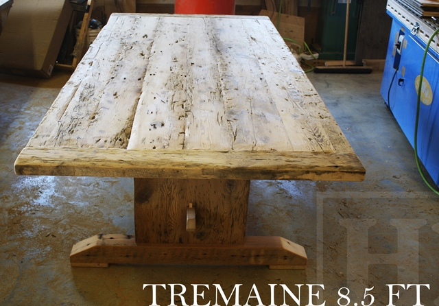 Amazing Custom Reclaimed Wood Boardroom Table In Whitby Ontario