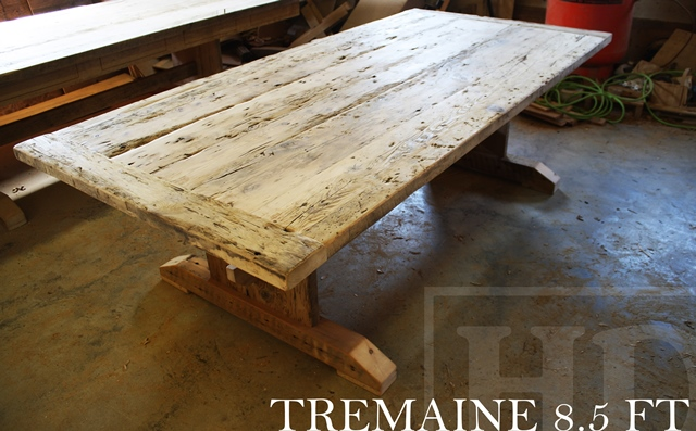 Brilliant Reclaimed Wood 3 Plank Post Table In Grimsby Ontario