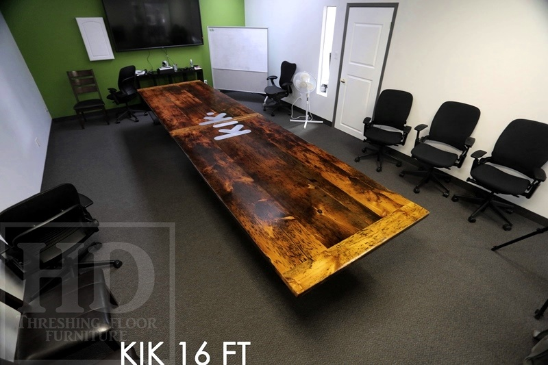 Foot Boardroom Table Reclaimed Threshing Floor Pine Blog - 16 foot conference room table