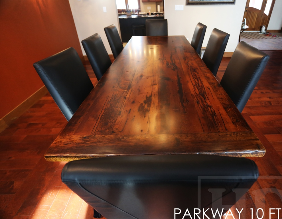 Reclaimed Wood Harvest Table Black Legs Sault Ste Marie