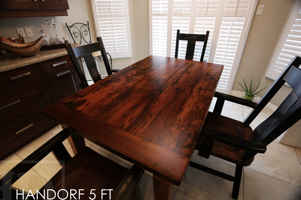 Kitchen Harvest Table With Wormy Maple Chairs In Cambridge