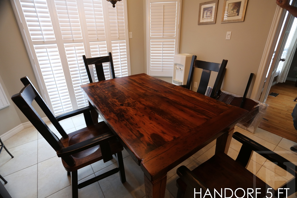 Kitchen Harvest Table With Wormy Maple Chairs In Cambridge On Blog