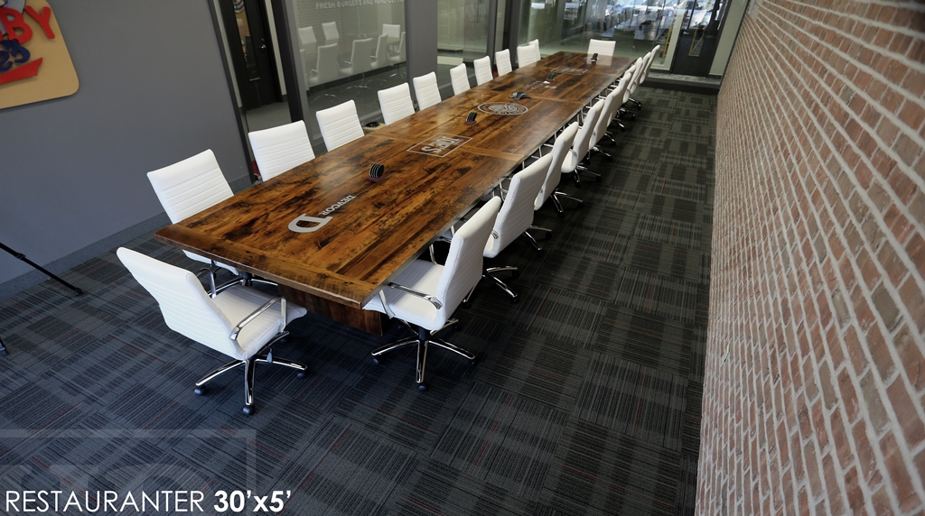 Our Biggest Table Build Yet 30 Ft Mississauga Reclaimed