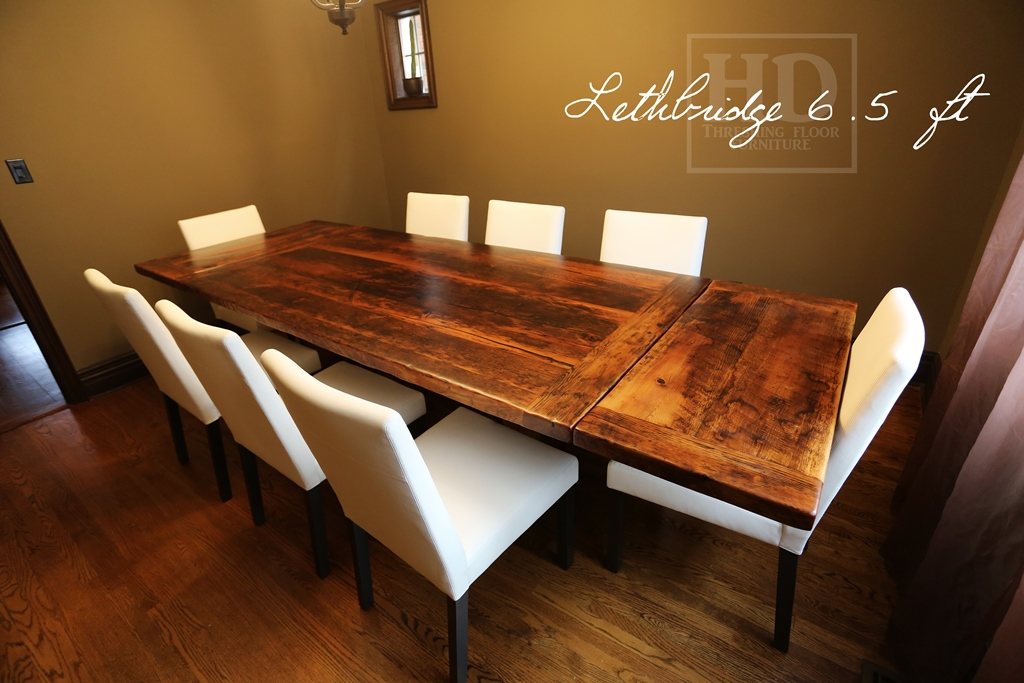 Details Of Order 6 5 Trestle Table 42 Wide Reclaimed Threshing Floor