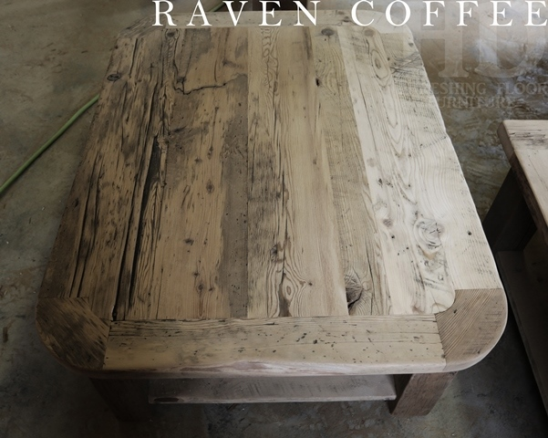 rustic coffee table made from reclaimed hemlock | blog