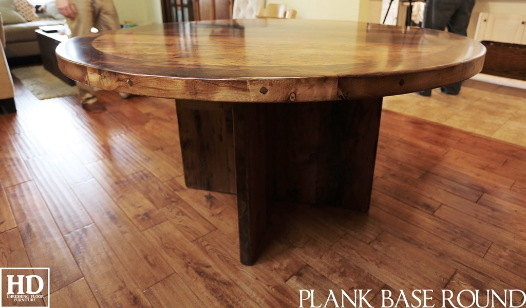 Modern Round Table Reclaimed Wood Table Kitchener, Ontario