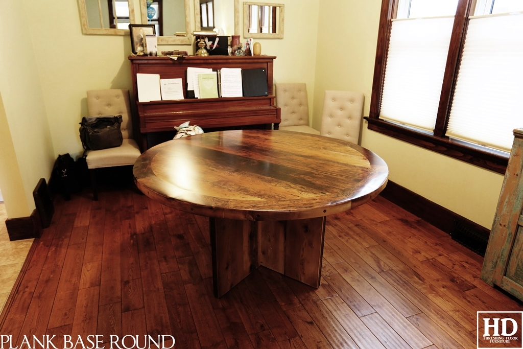 modern round table reclaimed wood table kitchener ontario modern kitchener home modern utility room other by