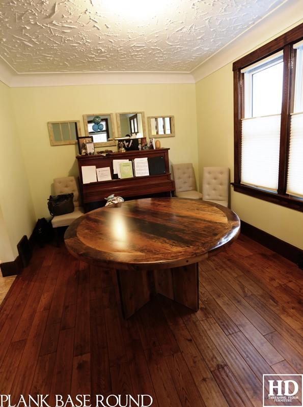 modern round table reclaimed wood table kitchener ontario sierra bed calligaris studio schreiter s kitchener