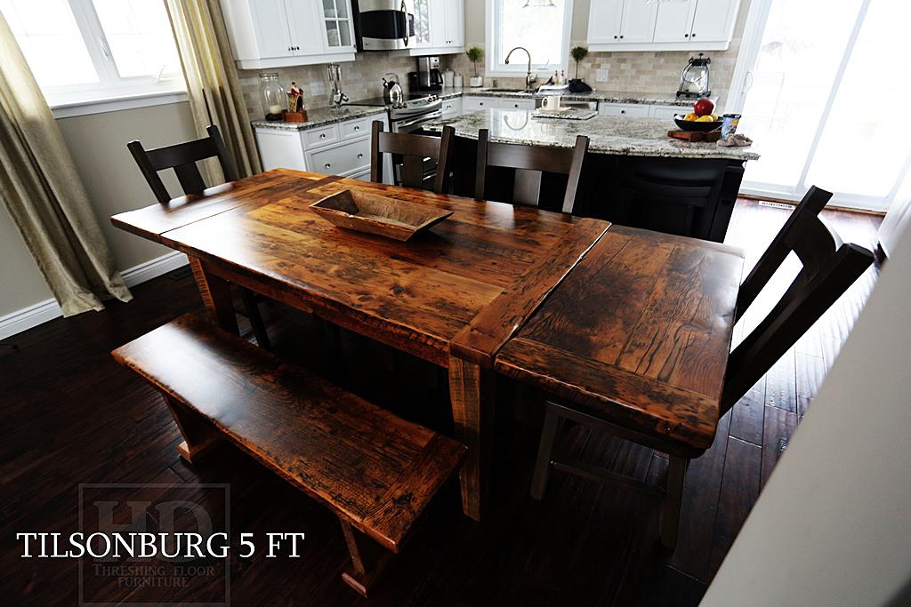 Burlington reclaimed hemlock barnwood harvest table with