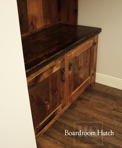 Lee Valley Kitchen Storage: Cabinetry For Boardrooms: Custom Reclaimed Wood Hutch
