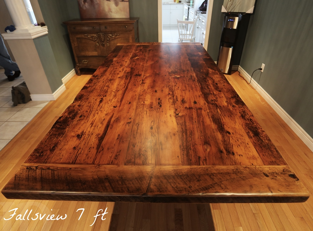 Reclaimed wood ″ plank post table in grimsby ontario