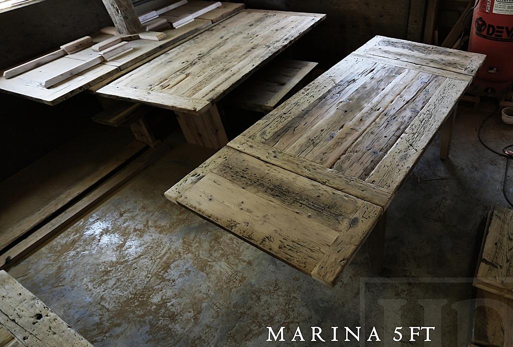 Matte Finish Epoxy : Reclaimed wood harvest kitchen table in stoney creek