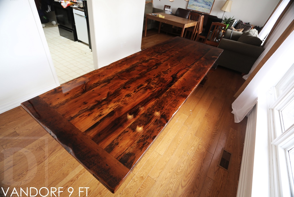 Photo barn dining table images chloe round coffee table for Reclaimed wood flooring san francisco