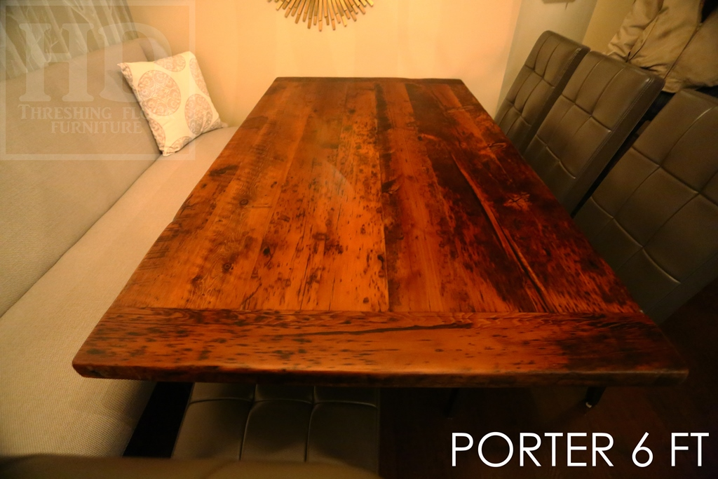 Details 6 ft Reclaimed Wood Table - 42