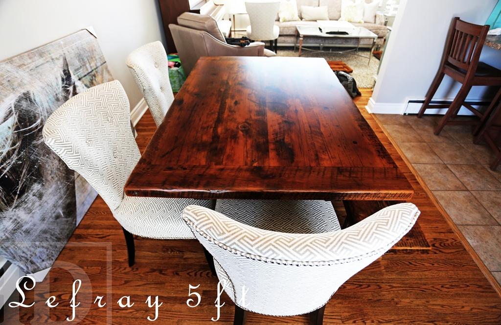 5 Ft Trestle Table 40 Wide Reclaimed Hemlock 2 Barnwood Top Premium Epoxy Matte Polyurethane Finish Matching Style Bench