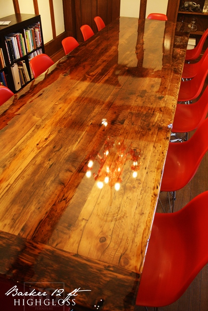 Modern High Gloss Reclaimed Wood Table In Mississauga Blog