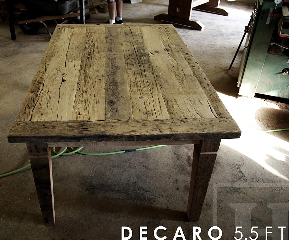 Specifications: 5.5 Ft Harvest Table U2013 42u2033 Wide U2013 Reclaimed Hemlock U2013  Tapered With A Notch Legs U2013 Black Skirting And Legs U2013 Premium Epoxy/matte  Polyurethane ...