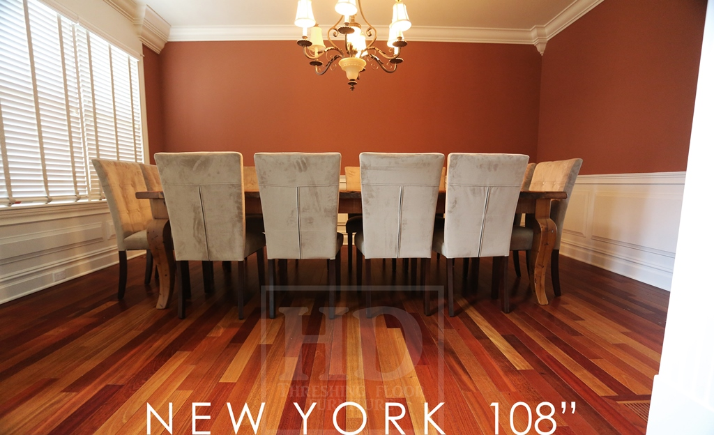Large reclaimed wood harvest table in new york state blog for Reclaimed wood new york