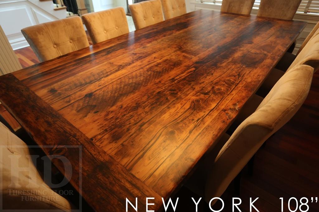 Reclaimed harvest table new york threshing gerald reinink for Reclaimed wood new york