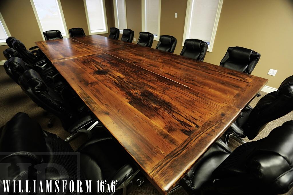 Reclaimed Wood Boardroom Tables in London, Ontario | Blog