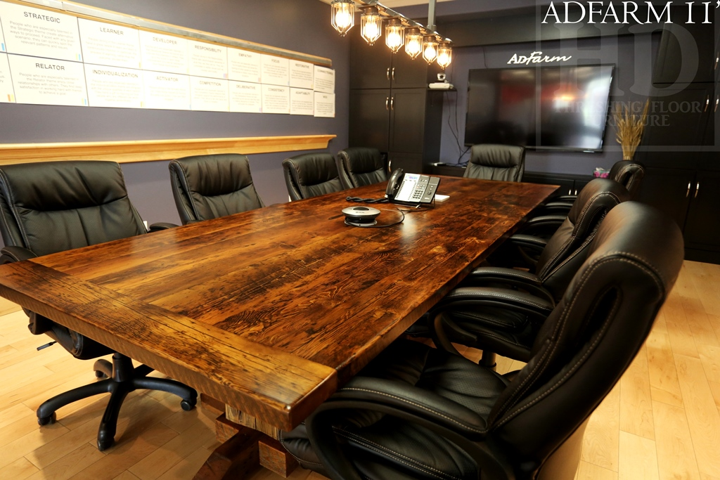 Reclaimed Wood Boardroom Tables Ontario Table