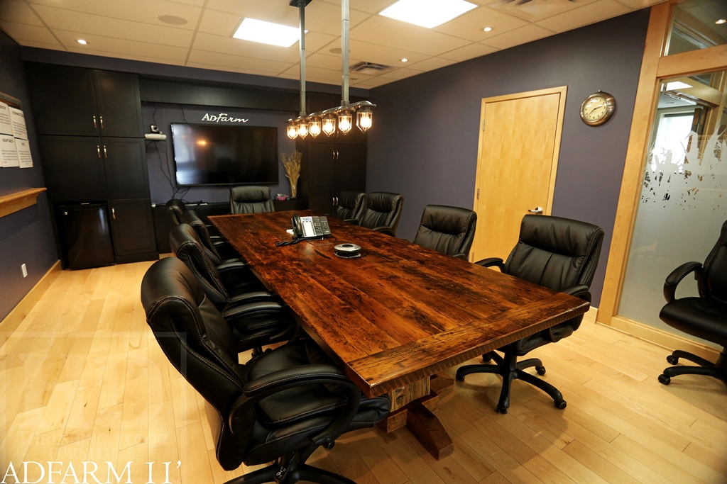 Reclaimed Wood Boardroom Tables Guelph Ontario HD Thre