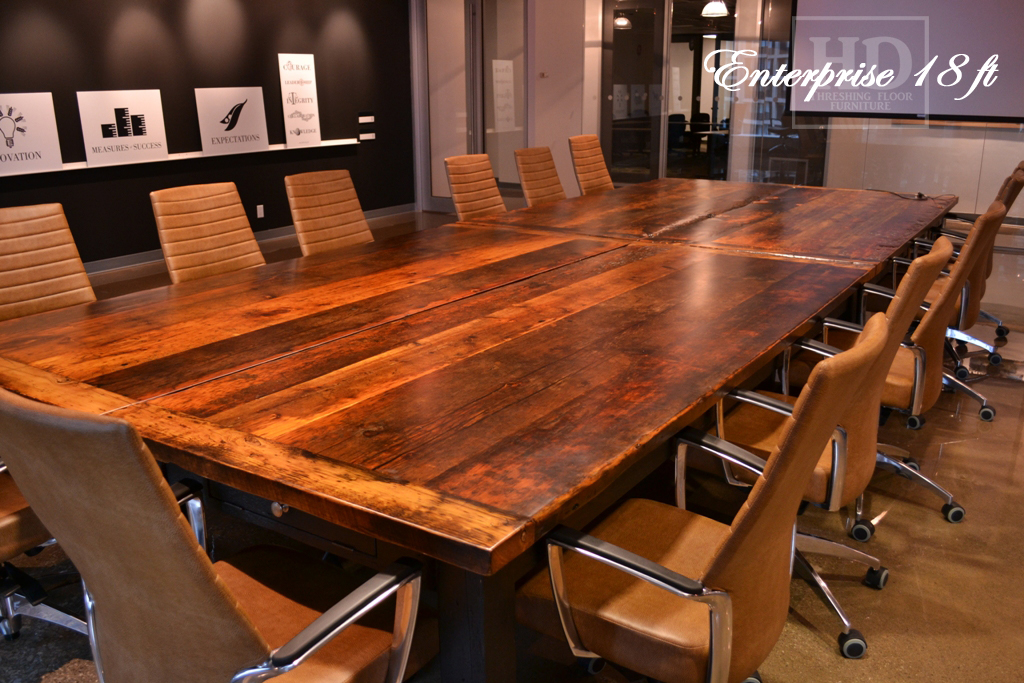Reclaimed Wood Boardroom Tables Toronto HD Threshing Floor Furniture - Wooden boardroom table
