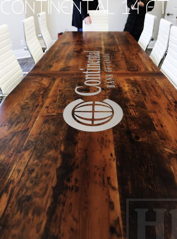 Custom Reclaimed Wood Boardroom Table In Whitby Ontario