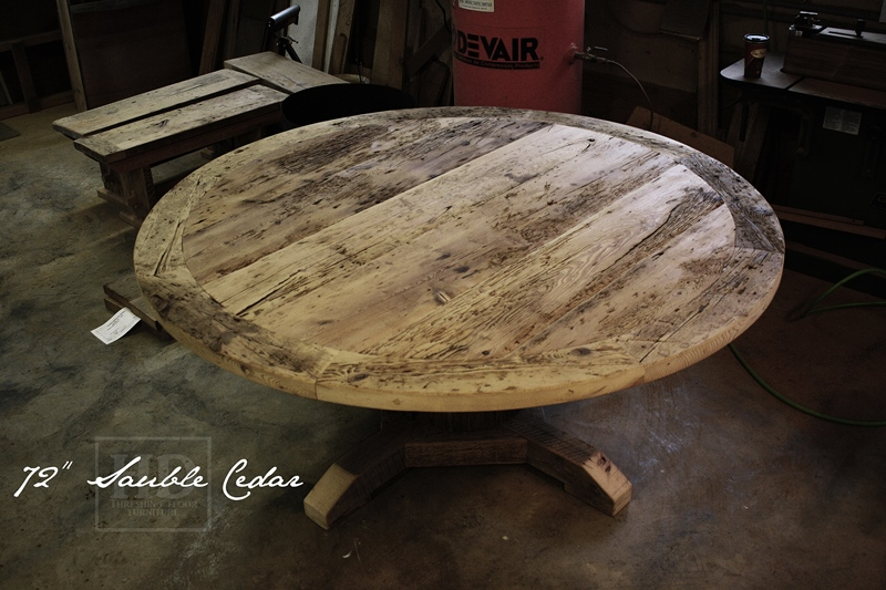 Round Dining Table Reclaimed Wood Ontario Tables HD