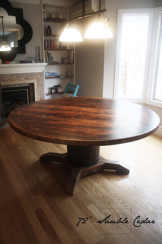 Reclaimed Wood Round Table In Toronto Blog